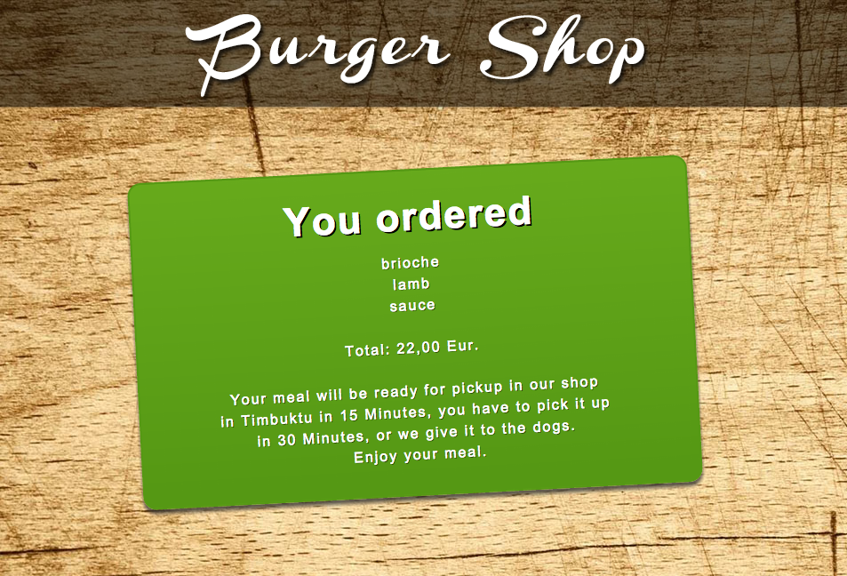 Buy a burger